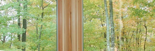 Custom Round Log home built by Mountain Construction near Jefferson, NC