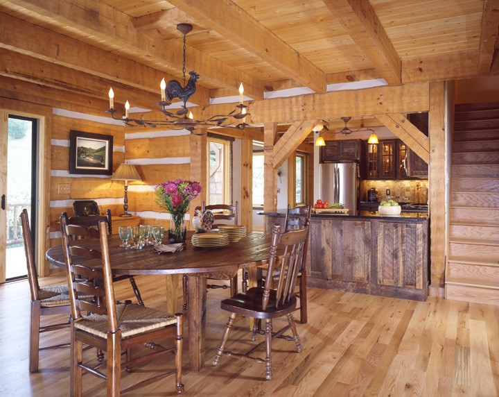 North Carolina Home builder uses Log and Timber Frame design to build custom home