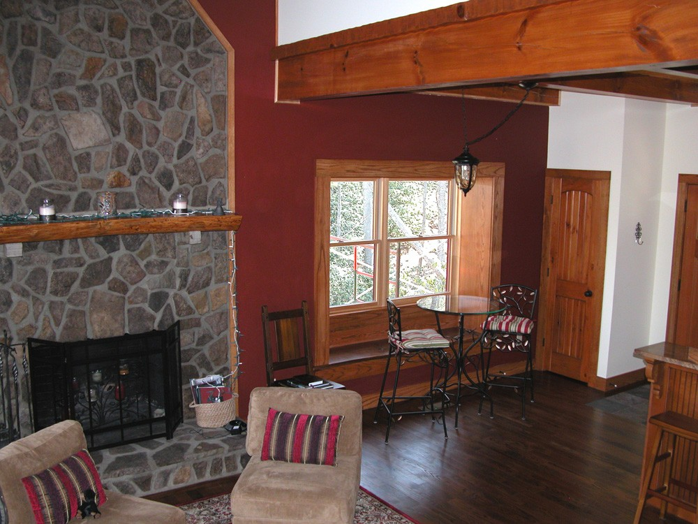 conventional framed energy star cabin built by mountain construction in valle crucis
