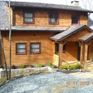 energy star certified cottage in valle crucis built by Mountain Construction