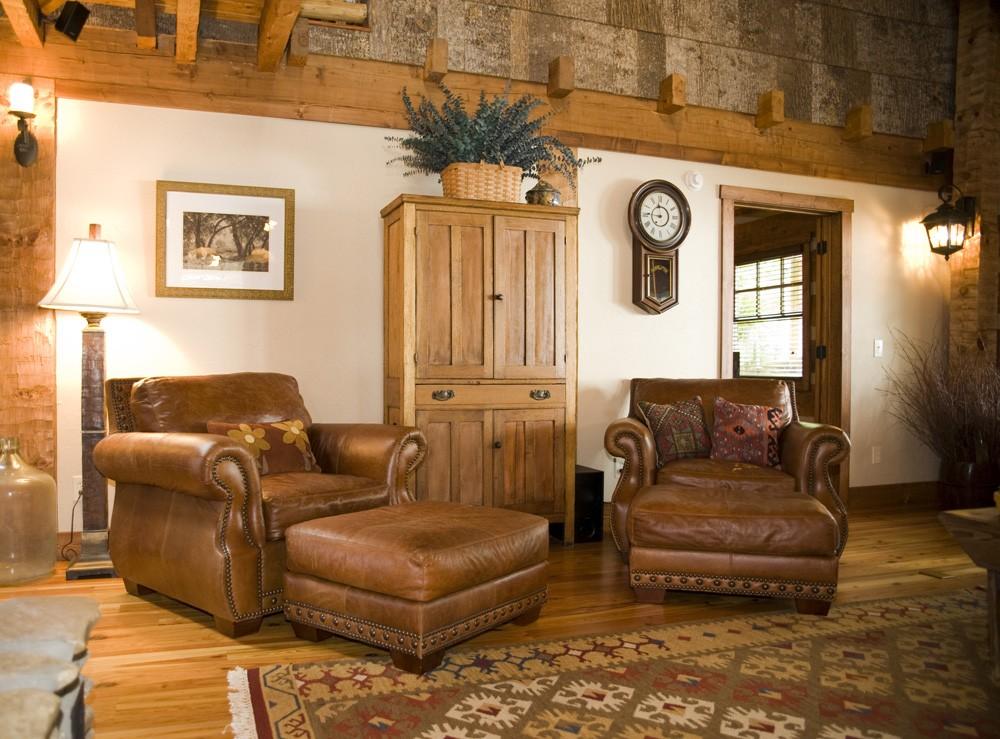western North Carolina renovation of a log cabin home