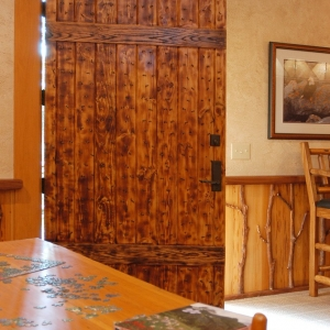 hand crafted indian door provides creative inspiration