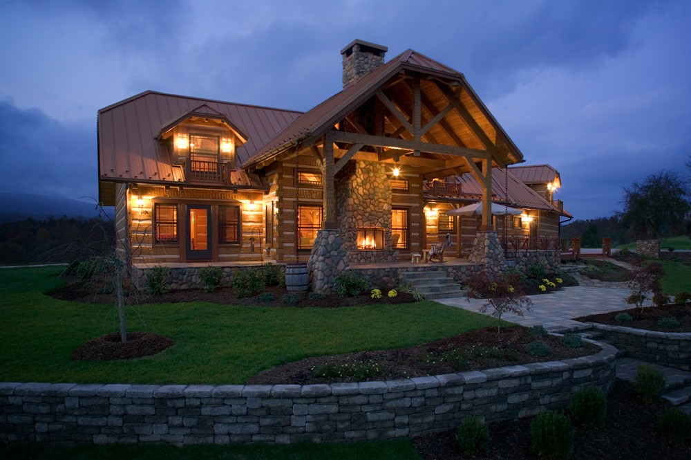 Mountain city log home mountain construction for Mountain dream homes