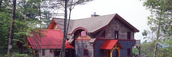 Blowing Rock NC Custom Timber Frame Hybrid Home