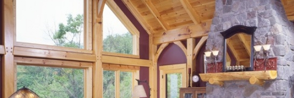 Custom Timber Frame Home in Blowing Rock