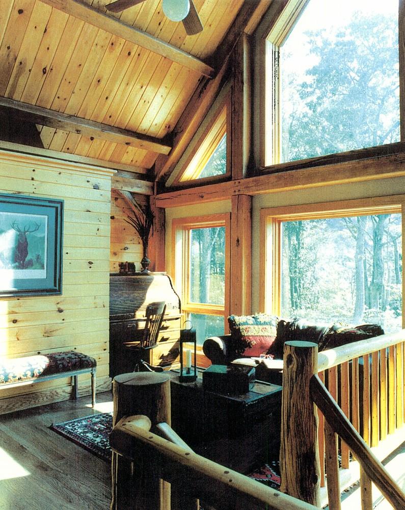 Timber Frame Home Loft Sitting Area