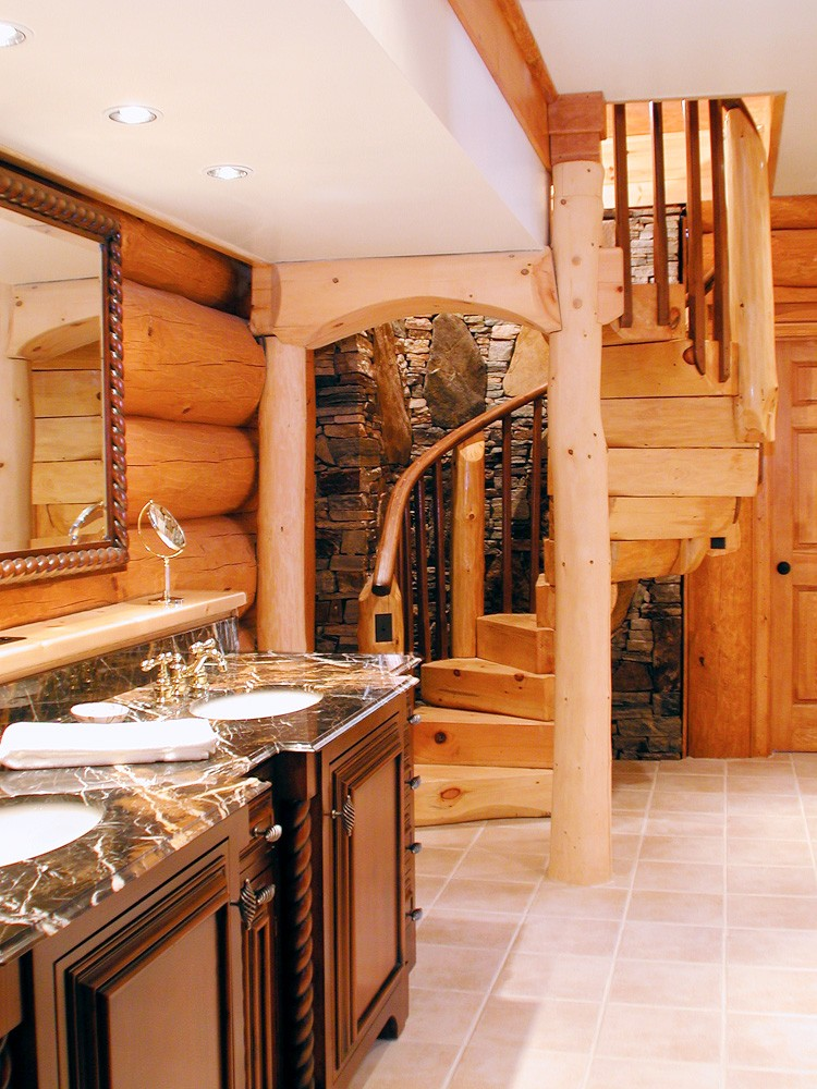 Lost Creek Log Home Mountain Construction