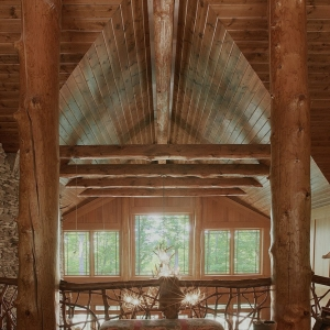 trees from property provide structure of lodge home near grandfather mountain
