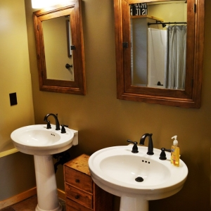 creative bathroom design by mountain construction in blowing rock nc