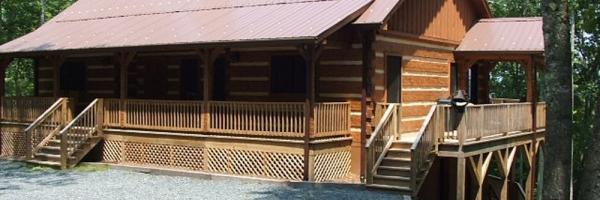 Log Cabin in Valle Crucis near Watauga River