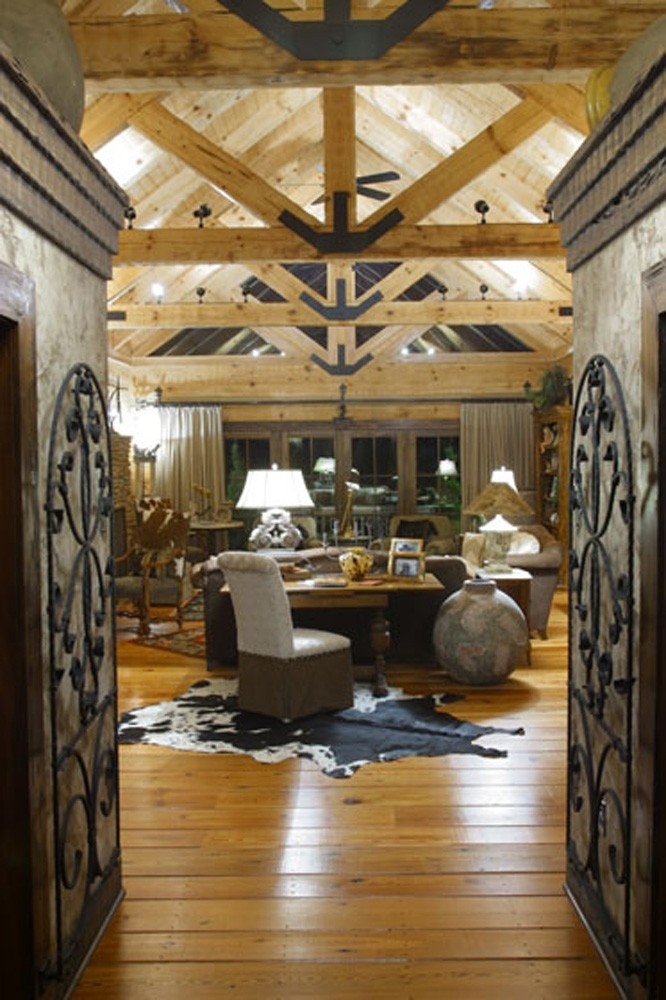 Hearthstone Homes Live Edge Log Home Design