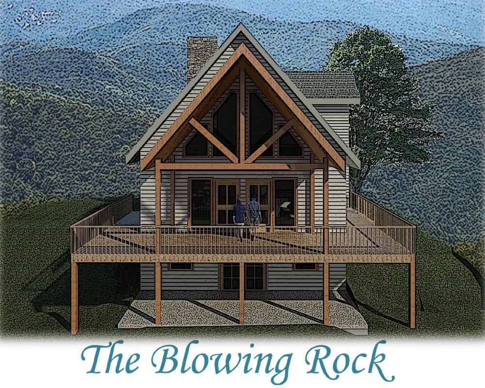 Blowing Rock log home plan