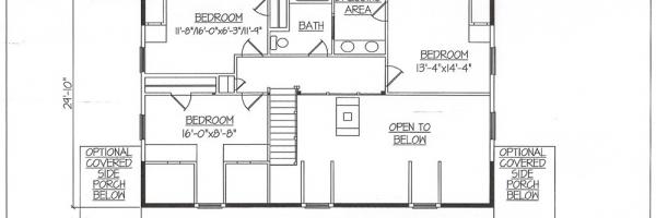 hickory log home plans