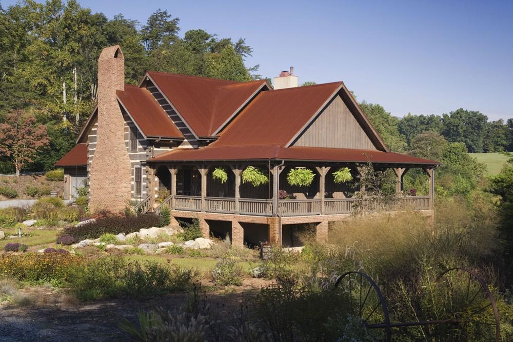 Lake Lure Live Edge Log Home