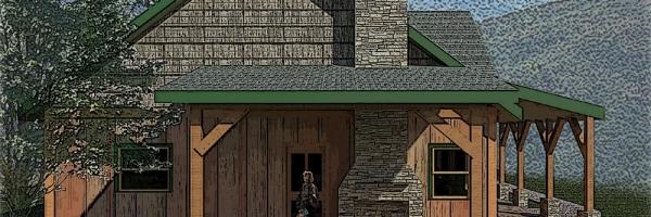 raleigh log home