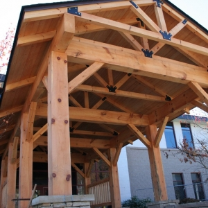 asheville timber frame house