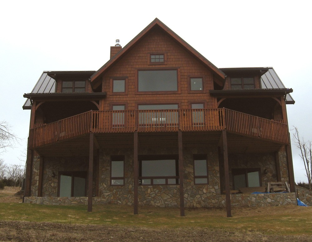 lake james log homes in western north carolina, tennessee log home builders