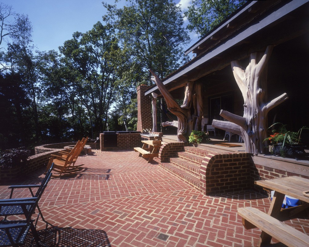 Brick Patio with custom stairs