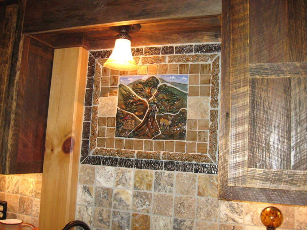 tile mosaic designed by homeowner reflects history of valle crucis property