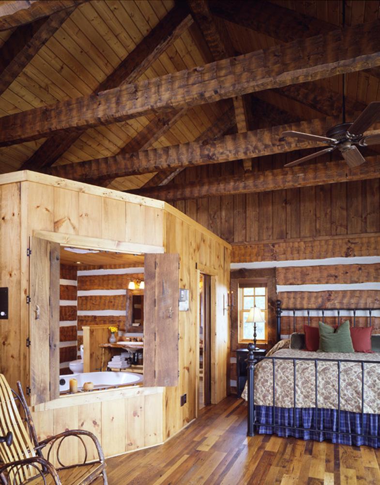 Bedroom Timber Frame Log Hybrid Estate Lodge Home