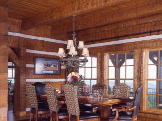 Dining Room Log Timber Frame Estate Home