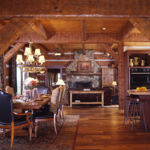 Log Timber Frame Hybrid Estate Lodge Home