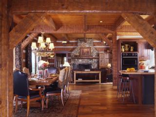 Log Timber Frame Hybrid Estate Lodge Home