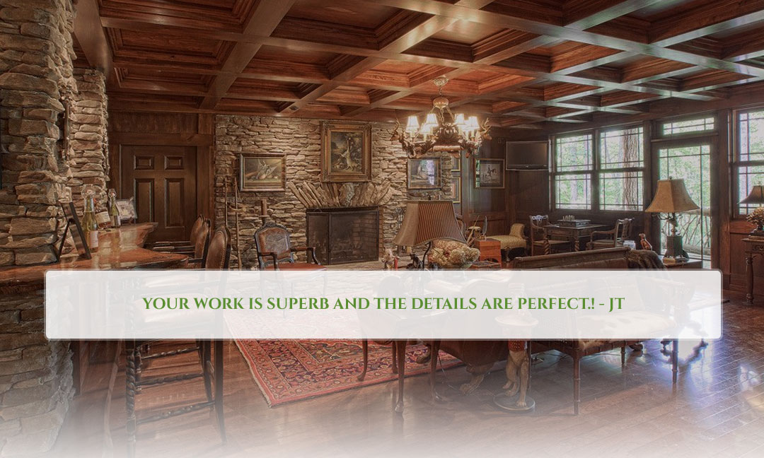 custom wood and stone homes