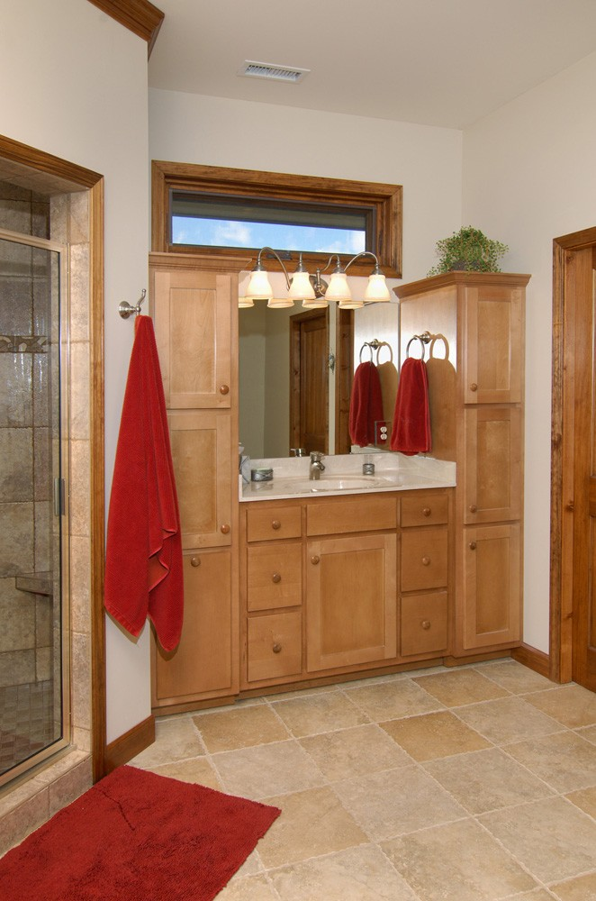 contemporary home design master bath west jefferson, nc