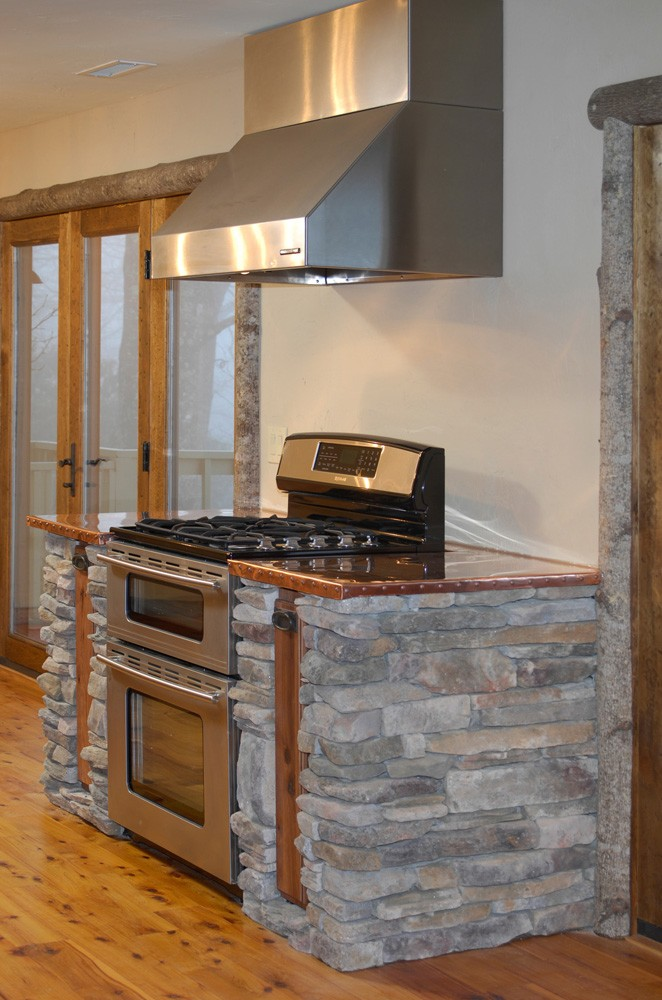 A home is fully remodeled in blowing Rock, NC