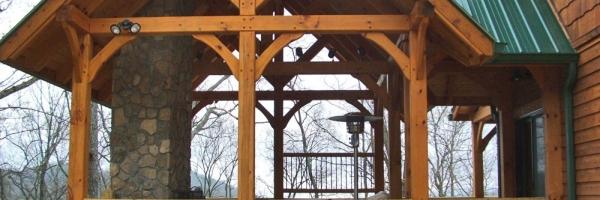 Custom Timber Frame Home near Blue Ridge Parkway