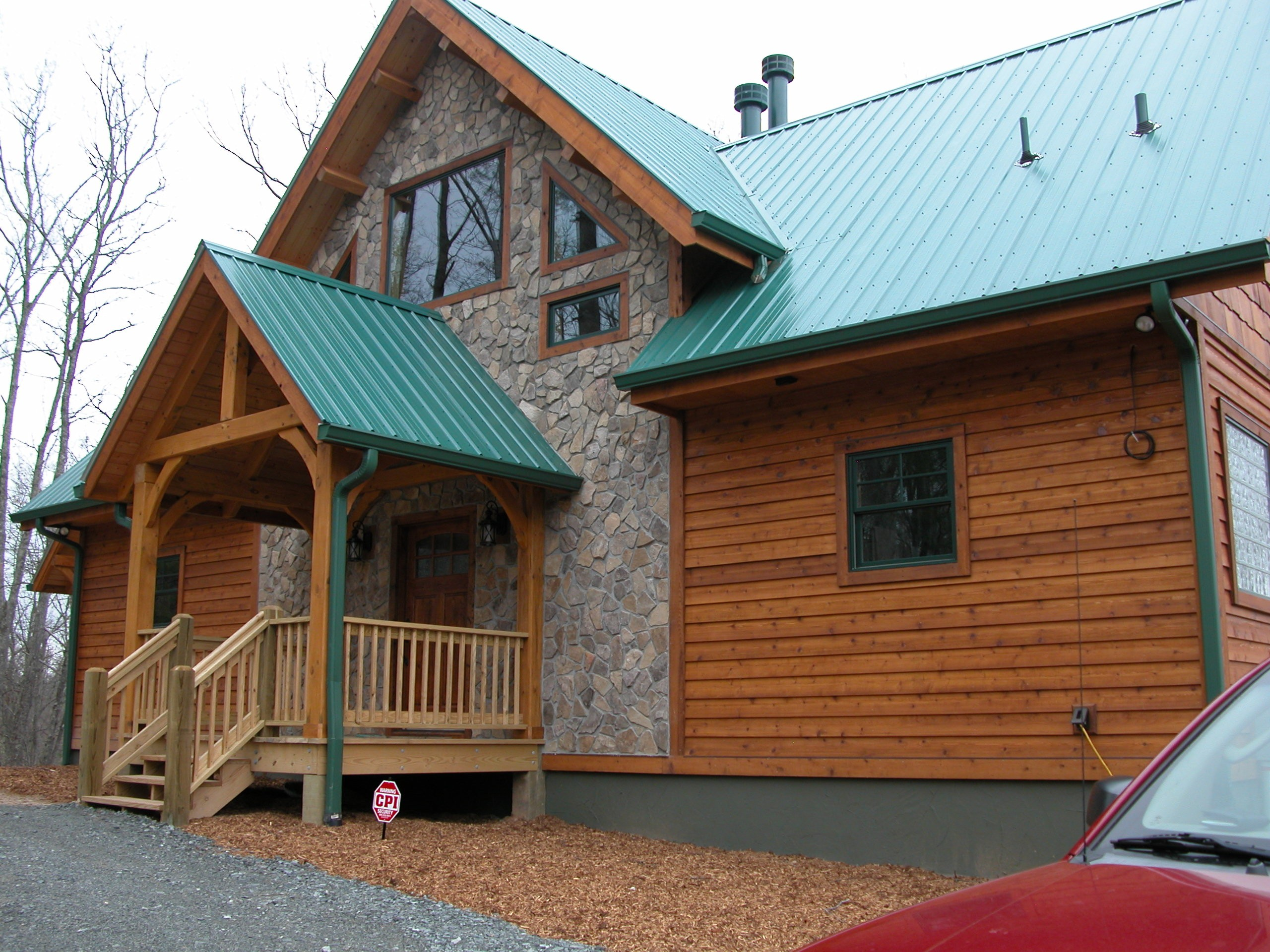 Custom Timber Frame Home near Blue Ridge Parkway