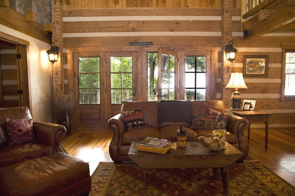 western North Carolina renovation of a log cabin home