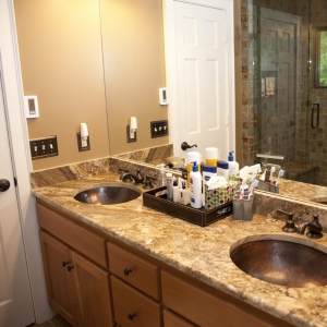 Mountain Construction bathroom update in exclusive Blowing Rock community