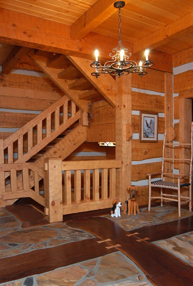 Custom Log Home near Banner Elk, NC built by Mountain Construction