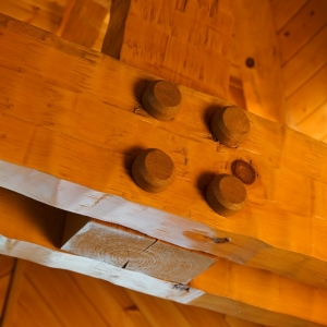 mortise and tenon joinery adds authenticity and strength to timber construction