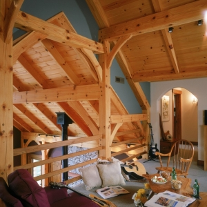 Timber Frame Home by Mountain Construction