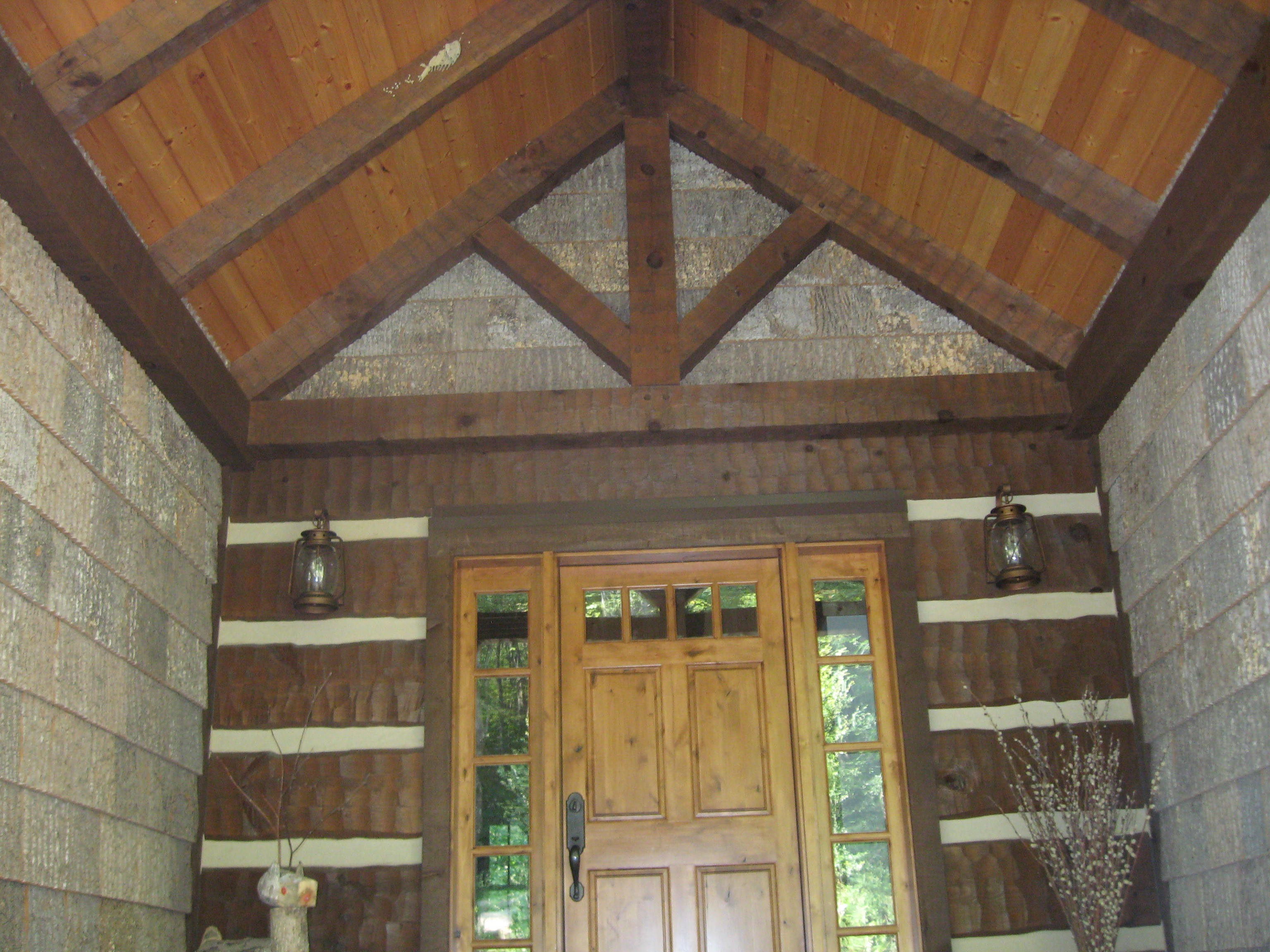 wood beams,asheville post and beam