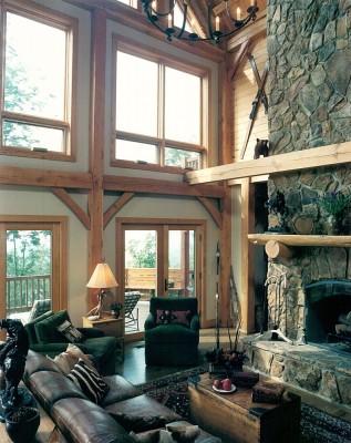 Oak Timber Frame Home in Banner Elk