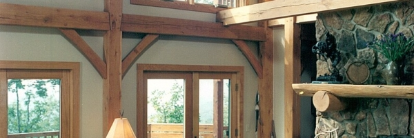 Oak Timber Frame Home in Banner Elk