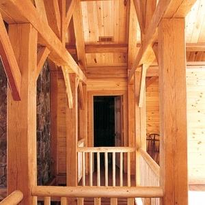 Banner Elk, North Carolina home is Timber Frame with log details