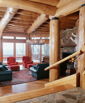 Full Scribe Round Log home