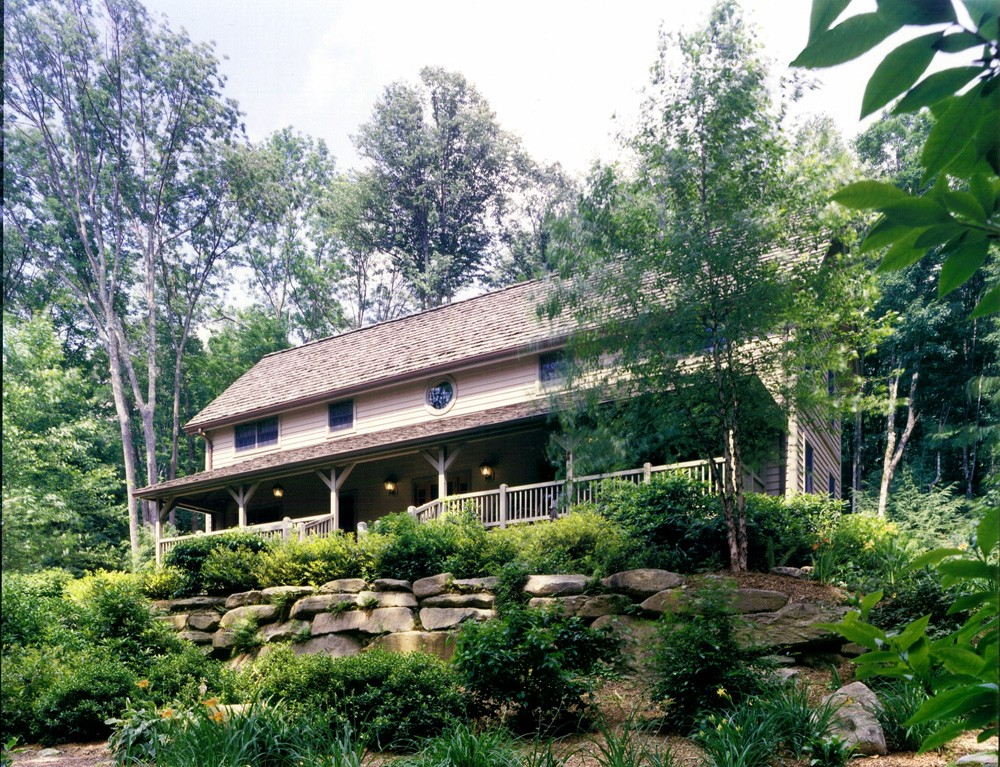Timberframe Home built at Grandfather Mountain, North Carolina