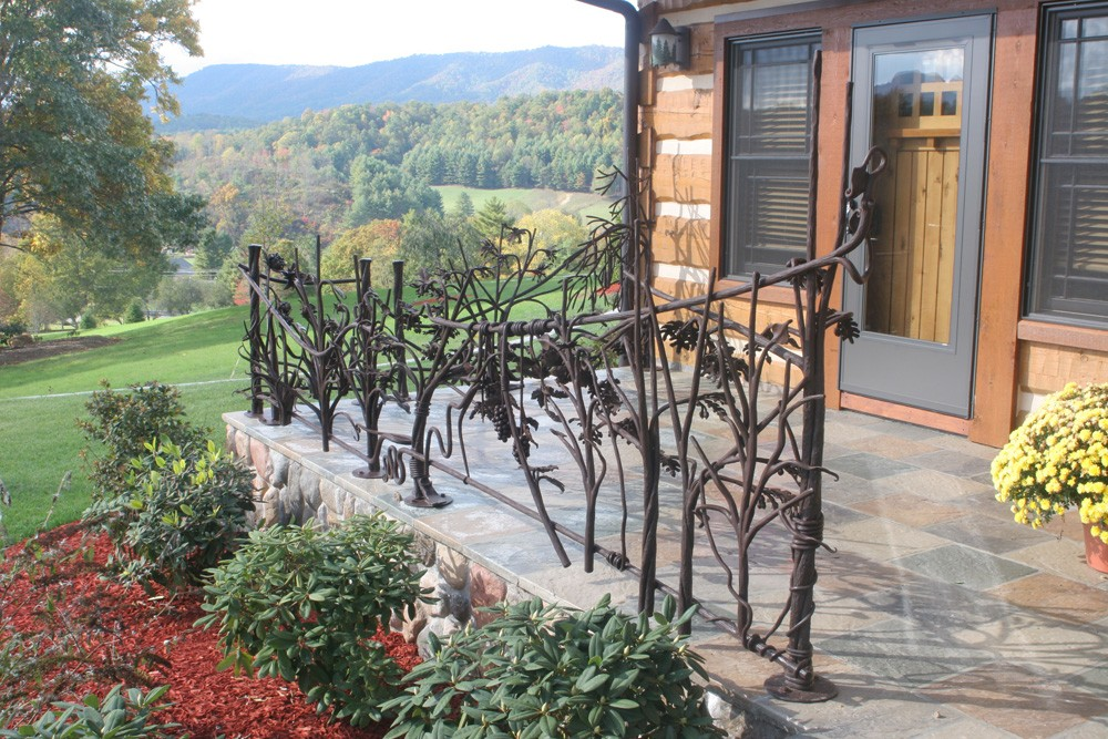 handcrafted iron railing accents in tennessee