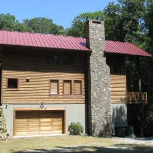 Custom Timber Frame Home near Moses Cone Park