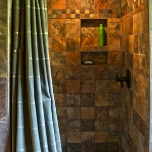 Custom bathroom design by Mountain Construction near Blowing Rock, NC