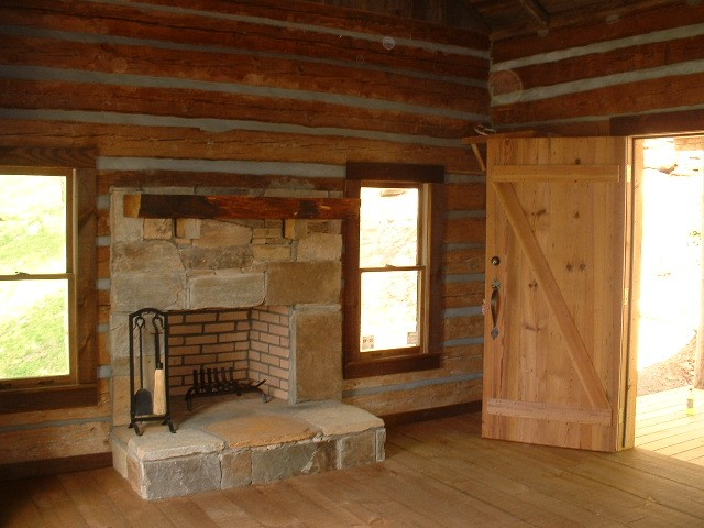 Mountain Construction built this small cabin at the entry of a development near Blowing Rock