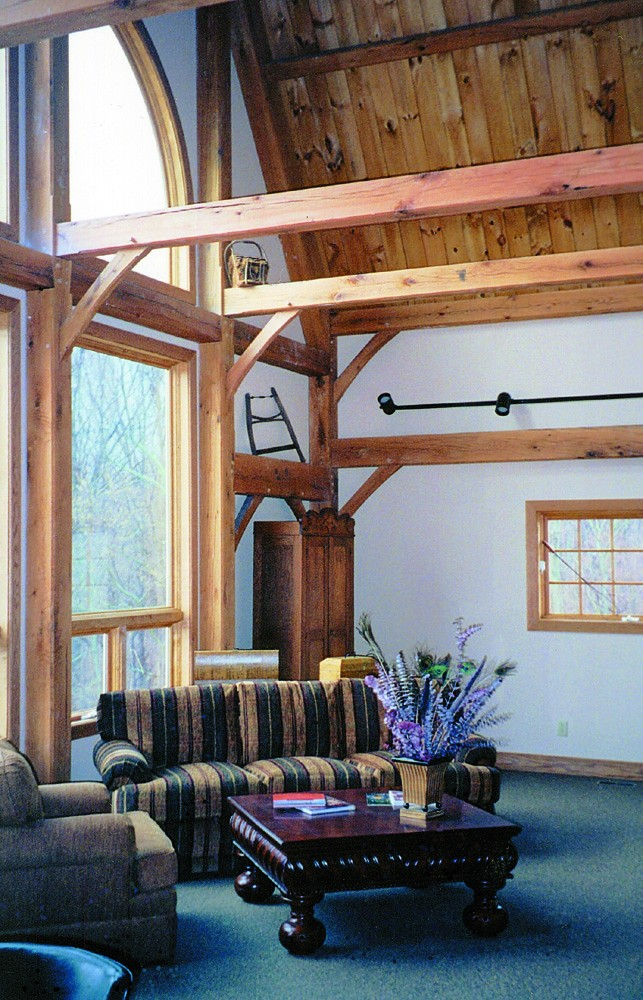 hearth stone post and beam