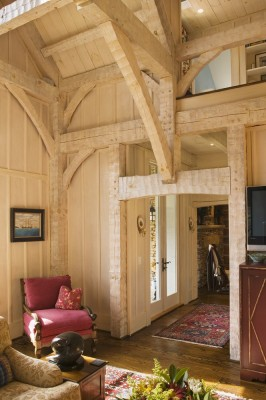 Timber Frame living area