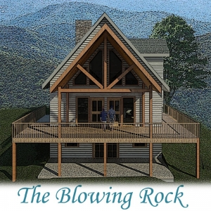 Blowing Rock log home plan